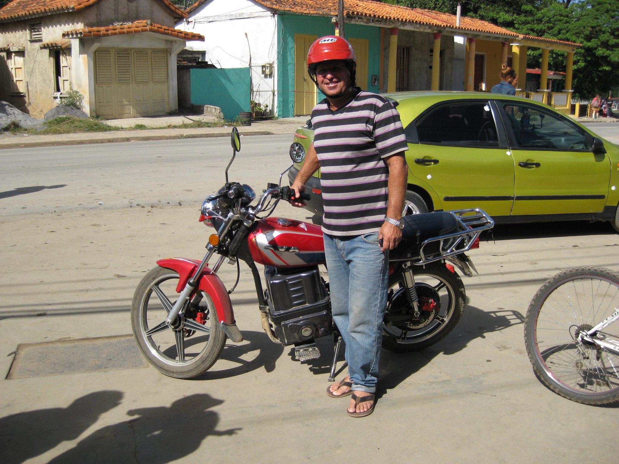 electric bike in Vinales